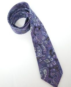 Krimson by Kwame purple paisley tie NWT
